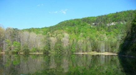 Wattacoo Lake, with reflections of Green Mountain