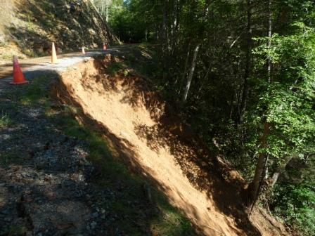Mud Slide along Avery Creek Road