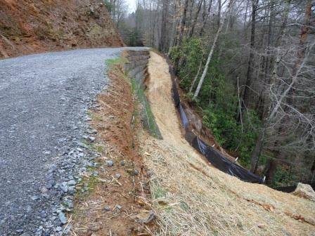 Repair of Avery Creek Road which was washed out by a mudslide