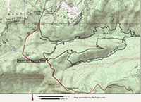 Topo map Bill Kimball Trail