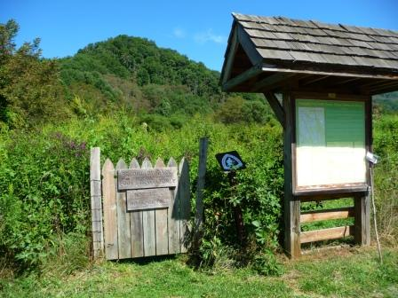 Trailhead for Overmountain  Victory Trail