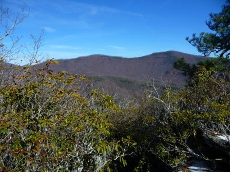 Views from the highpoint on Bennett Gap Trail