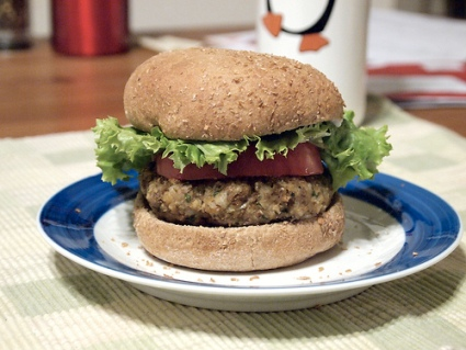 Pecan Lentil Burgers.  Adapted from a recipe by Robin Robertson in 1,000 Vegan Recipes