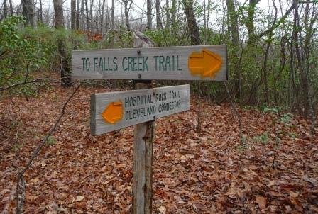 Trail Sign along Hospital Rock Trail
