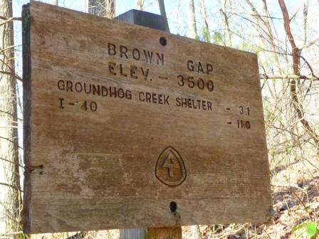 AT Sign at Brown's Gap
