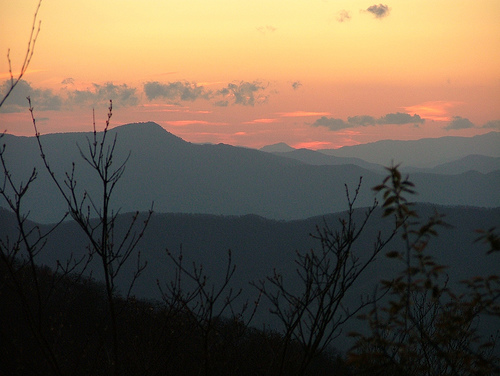 Sunset from Cold Mountain.  Photo by Andy Kunkle.