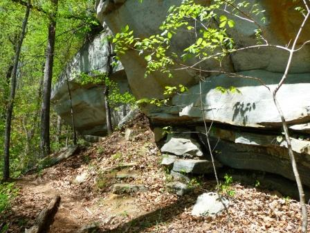 Rock Formations along Pinnacle Mountain Trail
